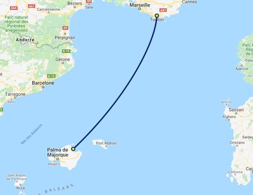 Mallorca Karte Alcudia.Fähre Toulon Alcúdia Corsica Ferries