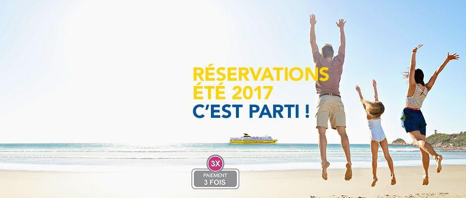 Ouverture des réservations Eté 2017