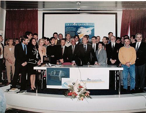 L'équipe Corsica Ferries en 1999