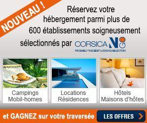 Hébergements en Corse